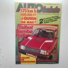 Coches: REVISTA AUTO HEBDO / Nº 19 / DEL 15 DE MAYO AL 1 DE JUNIO DE 1983 / TALBOT SAMBA RALLYE. Lote 270110298
