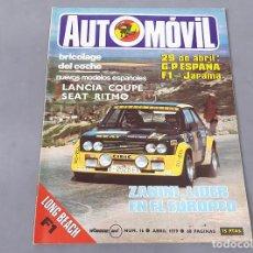 Coches: REVISTA AUTOMÓVIL FÓRMULA Nº 16 DE ABRIL DE 1979. Lote 270174323