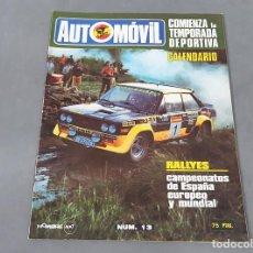 Coches: REVISTA AUTOMÓVIL FÓRMULA Nº 13 DE ENERO DE 1979. Lote 270175048