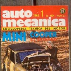 Carros: REVISTA AUTO MECANICA AUTOMECANICA 53 MINI COOPER 1300. Lote 274177978