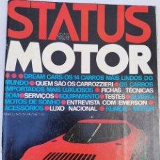 Carros: 1975 REVISTA STATUS MOTOR - LAMBORGHINI COUNTACH - LANCIA STRATUS HF - HONDA CB 750 FOUR. Lote 275224468