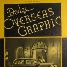 Coches: REVISTA ORIGINAL DODGE OVERSEAS GRAPHIC - EDICIÓN ESPAÑOLA DE FEBRERO DE 1935.. Lote 275752833