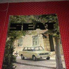 Carros: SEAT 73 - JULIO Y AGOSTO DE 1973 - LA GAMA SEAT 124 - CON EL POSTER CENTRAL. Lote 276189913