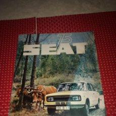Carros: SEAT 75 - OCTUBRE DE 1975 - LOS NUEVOS SEAT 124 D - CON EL POSTER CENTRAL. Lote 276191483