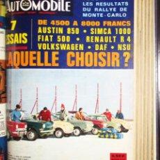 Coches: DOS VOLÚMENES ENCUADERNADOS DE LA REVISTA L'AUTOMOBILE CON EL AÑO 1967 COMPLETO.. Lote 276372788