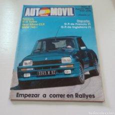 Coches: REVISTA AUTOMOVIL FORMULA N° 31 AGOSTO 1980. Lote 277031618