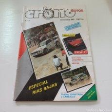 Coches: REVISTA CRONO MOTOR ESPECIAL RALLYE RIAS BAJAS 1987 FERROL .... Lote 277035198