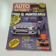 Coches: AUTO HEBDO SPORT 1990 N° 251 TODO EL RALLYE DE MONTECARLO .... Lote 277035523