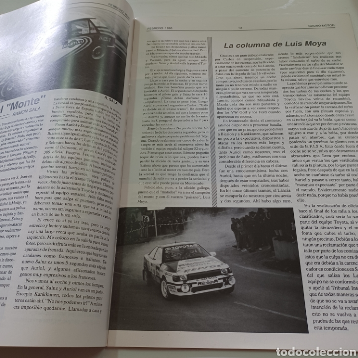Coches: CRONO MOTOR AÑO 1990 RALLY PORTUGAL - CAMPEONATO ESPAÑA TIERRA ... - Foto 3 - 277038023
