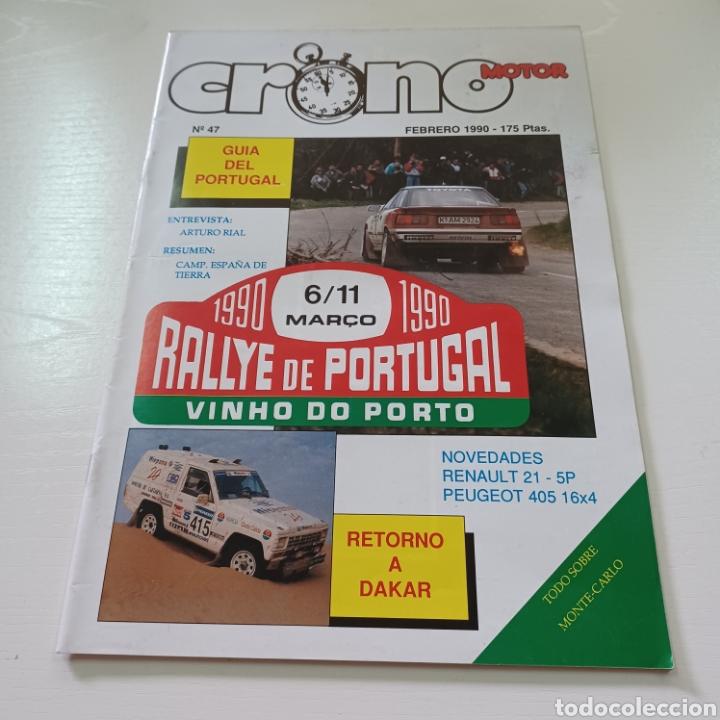 CRONO MOTOR AÑO 1990 RALLY PORTUGAL - CAMPEONATO ESPAÑA TIERRA ... (Coches y Motocicletas Antiguas y Clásicas - Revistas de Coches)