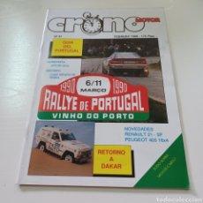 Coches: CRONO MOTOR AÑO 1990 RALLY PORTUGAL - CAMPEONATO ESPAÑA TIERRA .... Lote 277038023