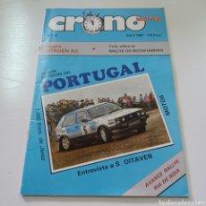 Coches: CRONO MOTOR N° 22 ABRIL 1987 RALLY DE PORTUGAL, NOIA MOTOS 1000 KMS JEREZ .... Lote 277040248