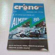Coches: CRONO MOTOR N° 37 AÑO 1988 RALLY RIAS BAJAS, SAN FROILAN, FERROL,PRINCIPE DE ASTURIAS .... Lote 277040928
