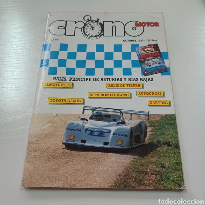 CRONO MOTOR N° 44 AÑO 1989 RALLY PRINCIPE DE ASTURIAS Y RIAS BAJAS SUBIDA ALMOFREY ... (Coches y Motocicletas Antiguas y Clásicas - Revistas de Coches)