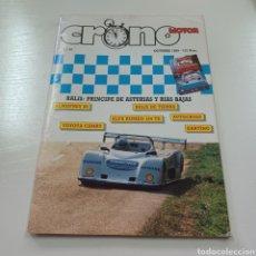 Coches: CRONO MOTOR N° 44 AÑO 1989 RALLY PRINCIPE DE ASTURIAS Y RIAS BAJAS SUBIDA ALMOFREY .... Lote 277042813