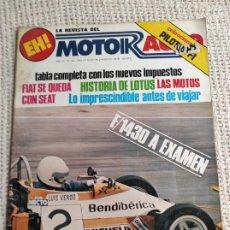 Coches: MOTOR AUTO Nº 42 - FORMULA 1430 A EXAMEN , HISTORIA LOTUS FORMULA , RICCARDO PATRESE. Lote 277063293