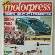 Coches: MOTORPRESS SELECCIONES N° 15 JULIO 1991. Lote 287616503