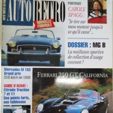 Coches: 1993 REVISTA AUTO RETRO - DOSSIER MGB - FERRARI 250 GT CALIFORNIA - ENSAIO LANCIA AURELIA - MERCEDES. Lote 287985623