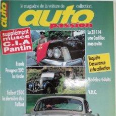 Coches: 1993 REVISTA AUTO RETRO - PEUGEOT 202 - TALBOT 2500 - ZIL 114 CADILLAC MOSCOVITE. Lote 287988368