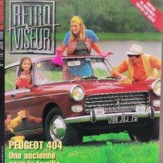 Coches: 1998 REVISTA RETRO VISEUR - PEUGEOT 404 - JAGUAR NUB 120 - PACKARD V12 - FIAT 2300 S - LE MANS 1968. Lote 288013848