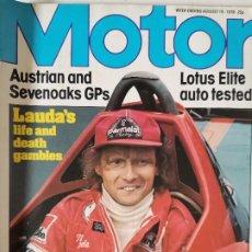 Coches: 1978 REVISTA MOTOR - LOTUS ELITE - LOTUS ESPRIT - PEUGEOT 305 - GOLF DIESEL. Lote 288035598