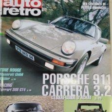 Coches: 2002 REVISTA AUTO RETRO - PORSCHE 911 CARRERA 3.2 - RANGE ROVER - CITROEN DS 21 PRESTIGE. Lote 288052903