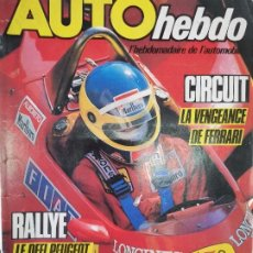 Coches: 1984 REVISTA AUTO HEBDO - MARLIN 1300 - AUTOBIANCHI A112 - G.P BELGICA - RALLYCROSS. Lote 288059463
