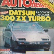 Coches: 1986 REVISTA AUTO HEBDO -ENSAIO DATSUN 300 ZX TURBO - RALLYE NOVA ZELANDIA. Lote 288060253