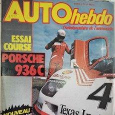 Coches: 1983 REVISTA AUTO HEBDO - ENSAIO PORSCHE 936 C - LOTUS RENAULT F1 -. Lote 288060698