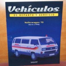 Coches: FASCICULO N 51 VW T3 IBERIA 1990 DE LA COLECCION DE VEHICULOS DE REPARTO Y SERVICIO DE SALVAT. Lote 288068803
