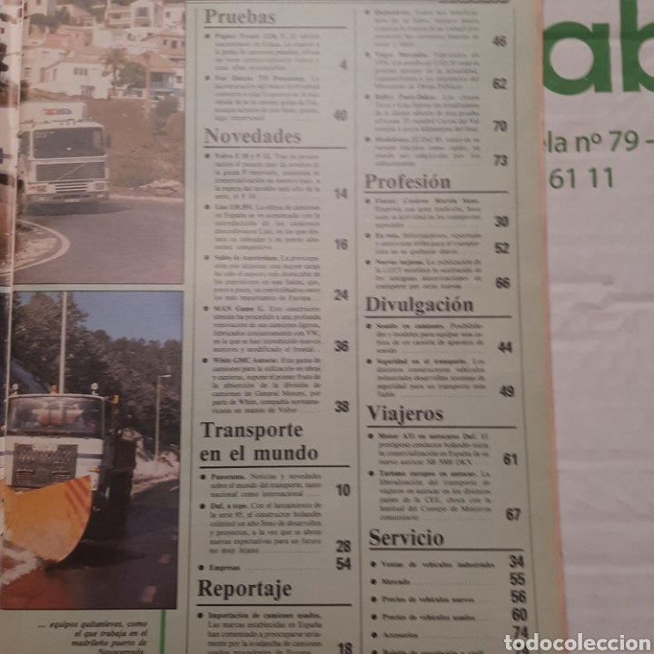Coches: Revista transporte mundial n. 9 de 1988 camion pegaso troner - Foto 2 - 288539668