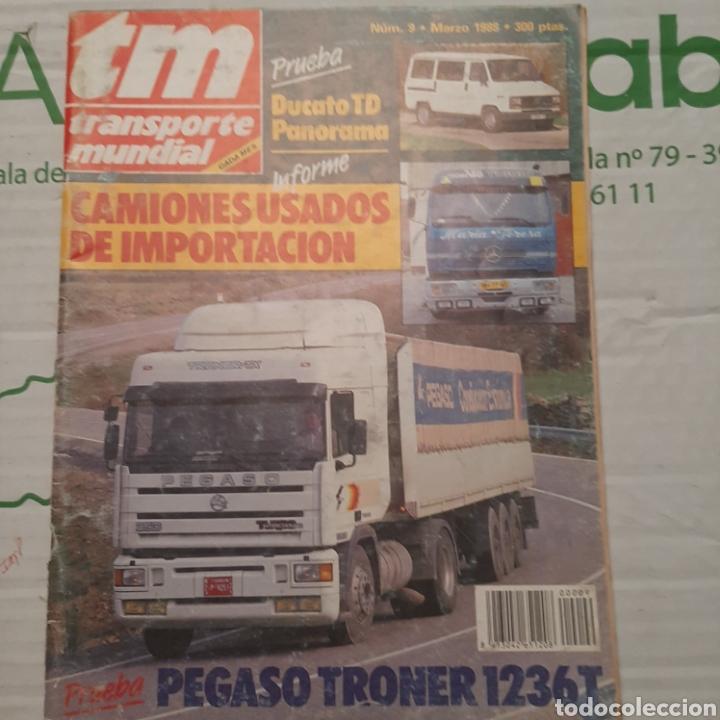 REVISTA TRANSPORTE MUNDIAL N. 9 DE 1988 CAMION PEGASO TRONER (Coches y Motocicletas Antiguas y Clásicas - Revistas de Coches)