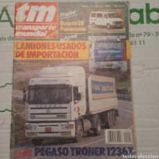 Coches: REVISTA TRANSPORTE MUNDIAL N. 9 DE 1988 CAMION PEGASO TRONER. Lote 288539668