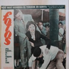 Coches: REVISTA FOTOS. AÑO 1952. AVA GARDNER, BONITO REPORTAJE ANN ROBINSON EN LA GUERRA DE LOS MUNDOS. Lote 288705523