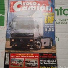 Coches: REVISTA SOLO CAMION N.72 DE 1995 PEGASO TRONER ERF. Lote 289797883