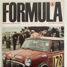 Carros: FORMULA Nº 5, FEBRERO 1967, RALLYE MONTECARLO, F1 AFRICA DEL SUR, LAMBORGHINI MIURA, LOLA T-70. Lote 291504353