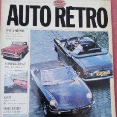 Carros: 1990 REVISTA AUTO RETRO - COMPARAIVO - LAMBORGUINI MIURA - BORA - MAGUSTA - ENSAIO ALPINE A 106. Lote 293261138