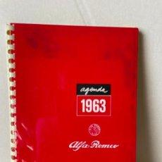 Carros: AGENDA ALFA ROMEO 1963. Lote 293446773