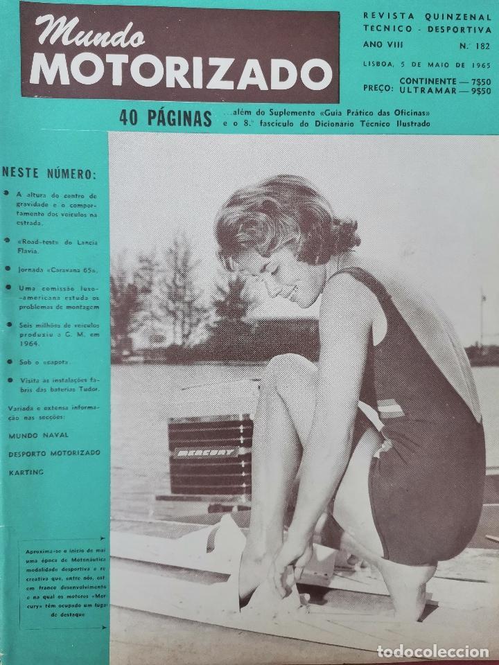 1965 REVISTA MUNDO MOTORIZADO - ROAD TEST LANCIA FLAVIA - RALLY SAFARI - KARTING (Coches y Motocicletas Antiguas y Clásicas - Revistas de Coches)