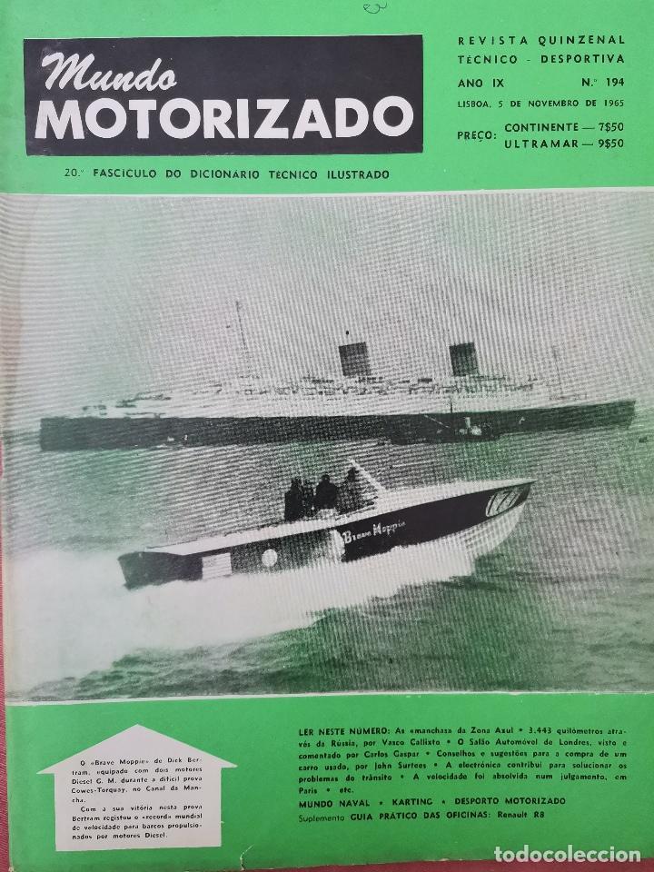 1965 REVISTA MUNDO MOTORIZADO - LONDRES MOTOR SHOW - VIII GRANDE PREMIO DE ANGOLA (Coches y Motocicletas Antiguas y Clásicas - Revistas de Coches)