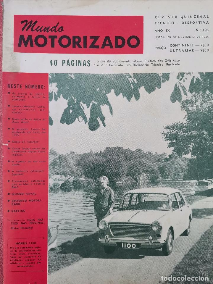 1965 REVISTA MUNDO MOTORIZADO - GOODWOOD TEST DAY - CAMPEONATOS NACIONAIS VELOCIDADE E RAMPAS (Coches y Motocicletas Antiguas y Clásicas - Revistas de Coches)