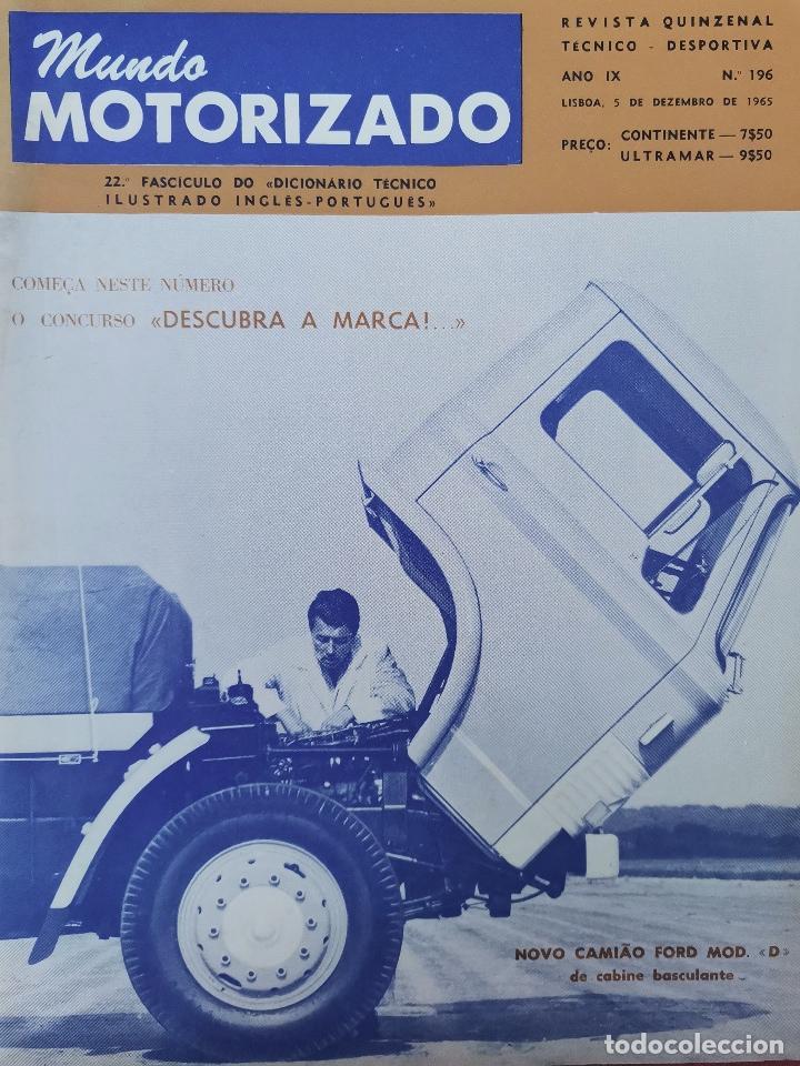 1965 REVISTA MUNDO MOTORIZADO - NOVO CAMION FORD MOD. D - COOPER S VENCEU RALLY GRAN BRETANHA (Coches y Motocicletas Antiguas y Clásicas - Revistas de Coches)