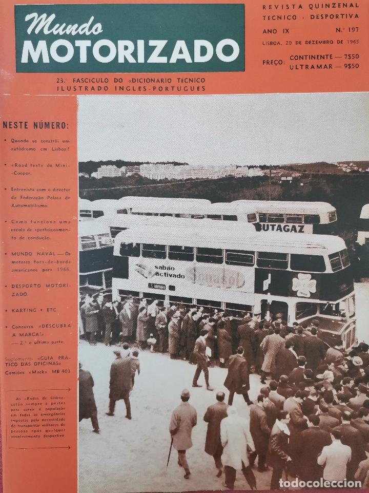 1965 REVISTA MUNDO MOTORIZADO - ROAD TEST MINI COOPER - CESAR TORRES CAMPEON NACIONAL (Coches y Motocicletas Antiguas y Clásicas - Revistas de Coches)