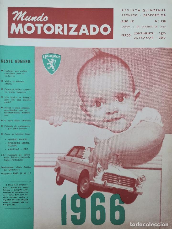 1966 REVISTA MUNDO MOTORIZADO - VISITA FABRICAS NSU - PENALIDADES PARA AUTOMOVILISTAS DE MADRID (Coches y Motocicletas Antiguas y Clásicas - Revistas de Coches)
