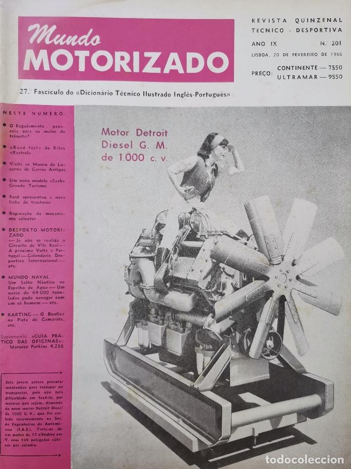 1966 REVISTA MUNDO MOTORIZADO - ROAD TEST RILEY KESTREL - FORD TRACTORES (Coches y Motocicletas Antiguas y Clásicas - Revistas de Coches)