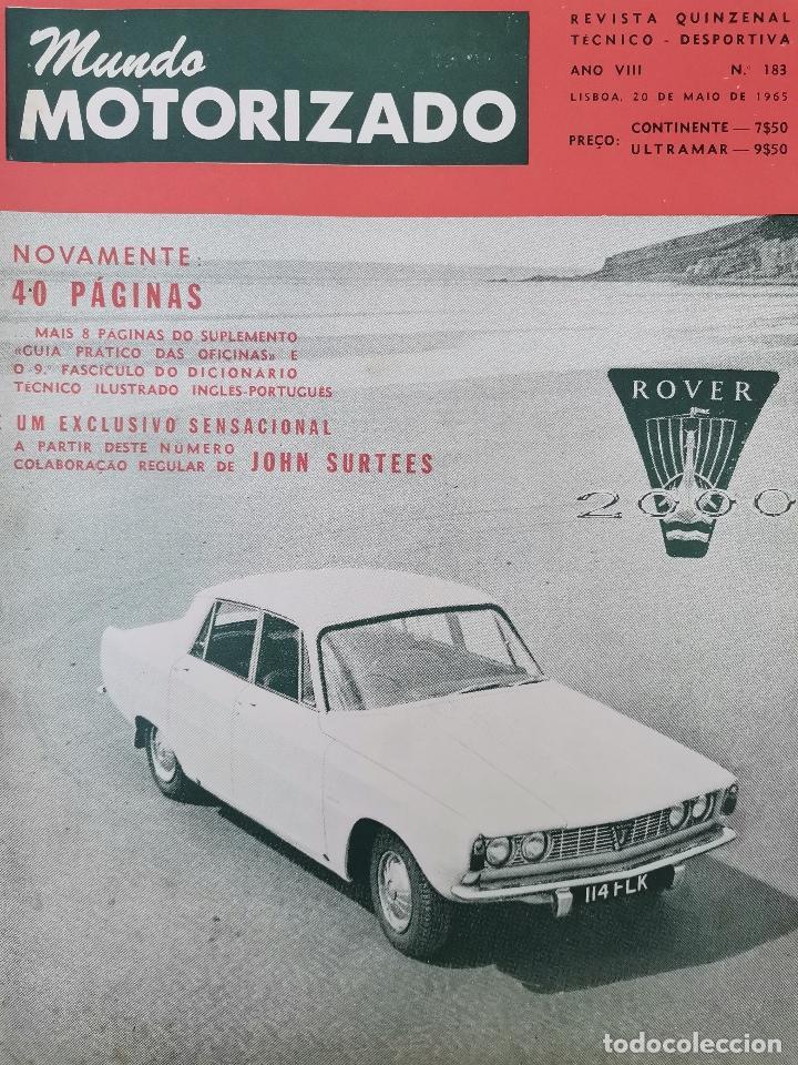 1965 REVISTA MUNDO MOTORIZADO - ROVER 2000 ROAD TEST - FIAT 850 POR JOHN SURTEES - X VOLTA AO MINHO (Coches y Motocicletas Antiguas y Clásicas - Revistas de Coches)