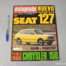 Coches: REVISTA DE AUTOMÓVILES AUTOPISTA Nº 970 DE SEPTIEMBRE DE 1977. Lote 293825998