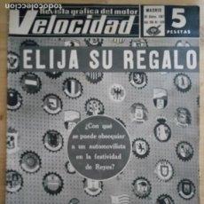 Coches: REVISTA GRÁFICA DEL MOTOR VELOCIDAD - Nº 329 DICIEMBRE 1967. Lote 293929788