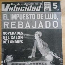 Coches: REVISTA GRÁFICA DEL MOTOR VELOCIDAD - Nº 321 NOVIEMBRE 1967. Lote 293930063