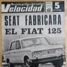 Coches: REVISTA GRÁFICA DEL MOTOR VELOCIDAD - Nº 298 MAYO 1967. Lote 293930563